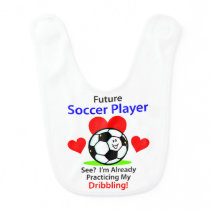 Future Soccer Player Baby Bib