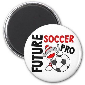Future Soccer Pro Sock Monkey 2 Inch Round Magnet