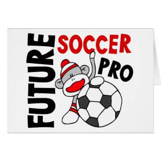 Future Soccer Pro Sock Monkey Greeting Card