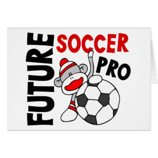 Future Soccer Pro Sock Monkey Greeting Cards