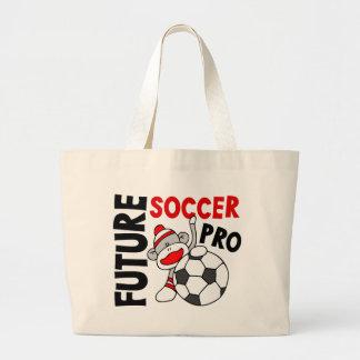 Future Soccer Pro Sock Monkey Large Tote Bag