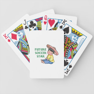 Future Soccer Star Bicycle Playing Cards