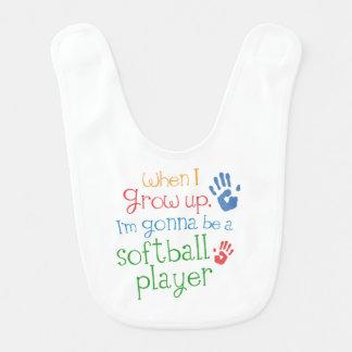 Future softball Player Baby Bib