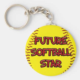 Future Softball Star Keychain