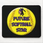 Future Softball Star Mouse Pad