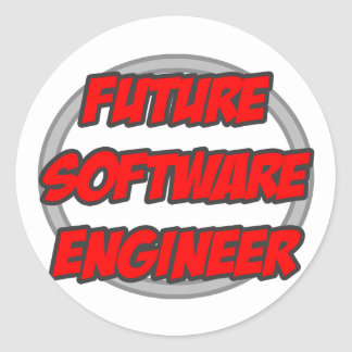 Future Software Engineer Classic Round Sticker