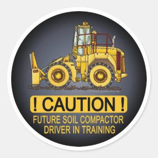 Future Soil Compactor Driver Kids Sticker