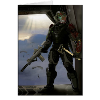Future Soldier Greeting Card