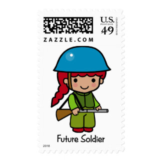 Future Soldier (girl) Postage Stamps