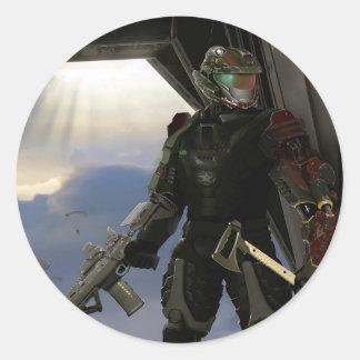 Future Soldier Classic Round Sticker