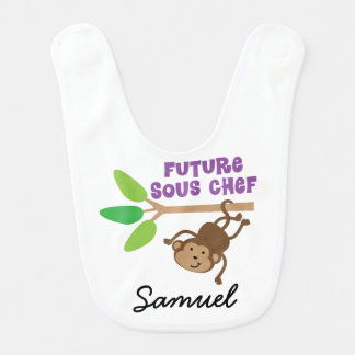 Future Sous Chef Personalized Baby Bib