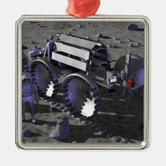 Future space exploration missions 10 metal ornament