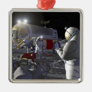 Future space exploration missions 11 metal ornament