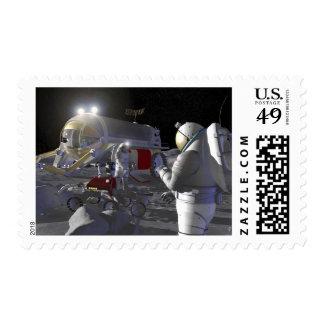 Future space exploration missions 11 postage stamp