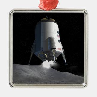 Future space exploration missions 12 metal ornament