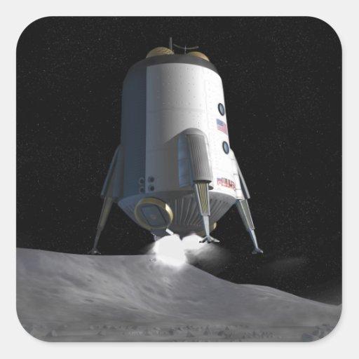 Future space exploration missions 12 square sticker