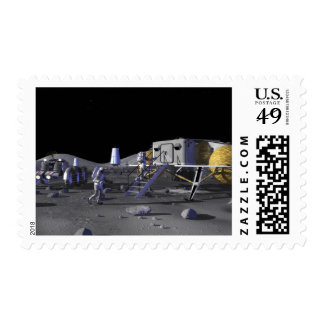 Future space exploration missions 13 postage stamp