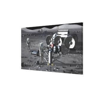 Future space exploration missions 2 gallery wrapped canvas