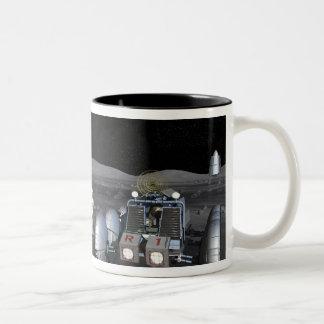 Future space exploration missions 3 Two-Tone coffee mug