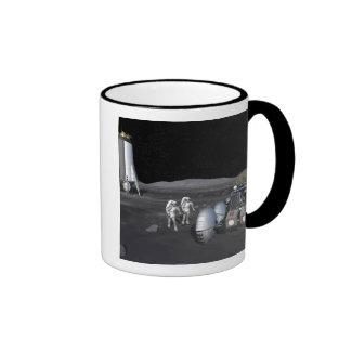 Future space exploration missions 3 ringer coffee mug