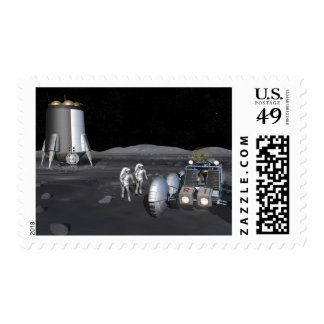 Future space exploration missions 3 postage