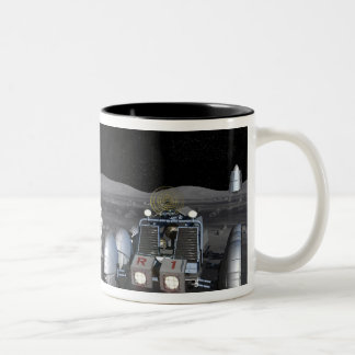 Future space exploration missions 3 Two-Tone coffee mug