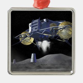 Future space exploration missions 4 metal ornament