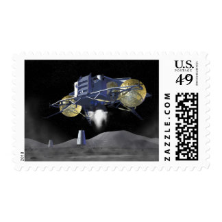 Future space exploration missions 4 postage stamp