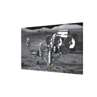 Future space exploration missions 5 stretched canvas print