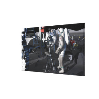 Future space exploration missions 5 stretched canvas prints