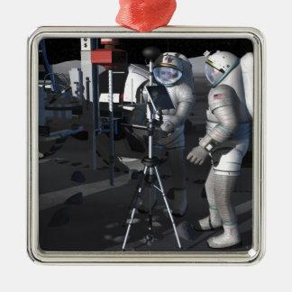 Future space exploration missions 5 metal ornament