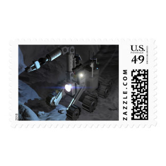 Future space exploration missions 6 stamp
