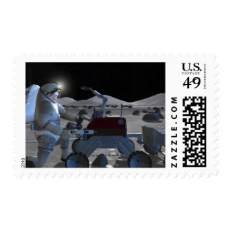 Future space exploration missions 7 stamp