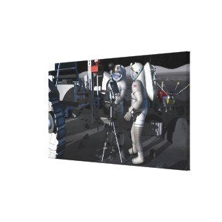 Future space exploration missions 8 canvas print