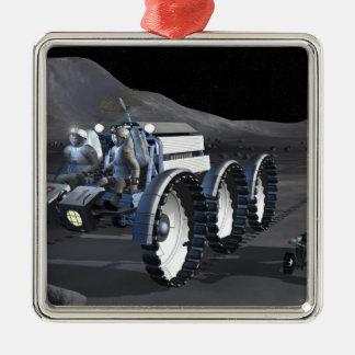Future space exploration missions 8 metal ornament