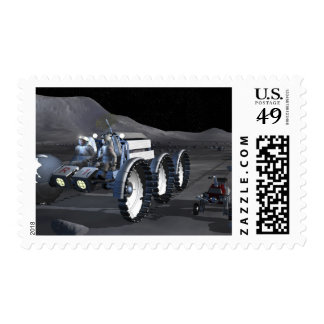 Future space exploration missions 8 stamp