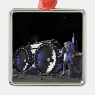 Future space exploration missions 9 metal ornament
