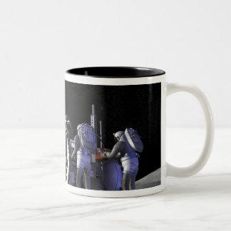 Future space exploration missions 9 Two-Tone coffee mug