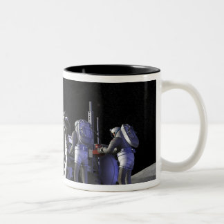 Future space exploration missions 9 Two-Tone coffee mug