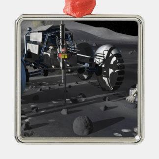 Future space exploration missions metal ornament