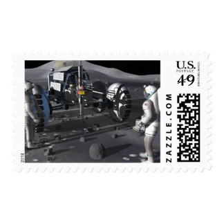 Future space exploration missions postage