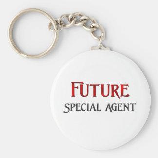 Future Special Agent Basic Round Button Keychain