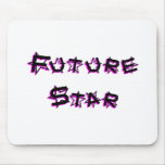 future_star_pink mouse pads
