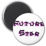 future_star_pink refrigerator magnets