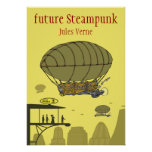 future steampunk - Jules Verne Poster