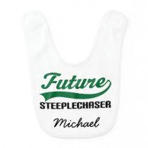 Future Steeplechaser Personalized Baby Bib