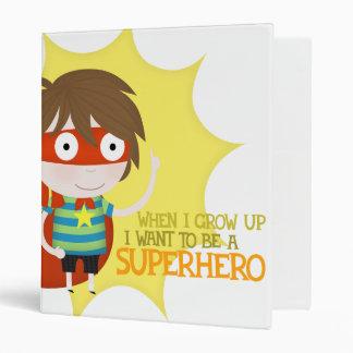 Future superhero 3 ring binder