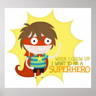 Future superhero large poster