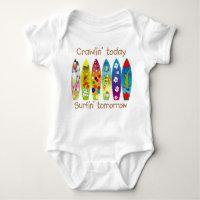 FUTURE SURFER CRAWLER BABY BODYSUIT