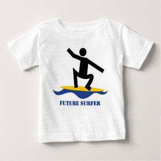 Future surfer, surfer on a surfboard custom baby T-Shirt